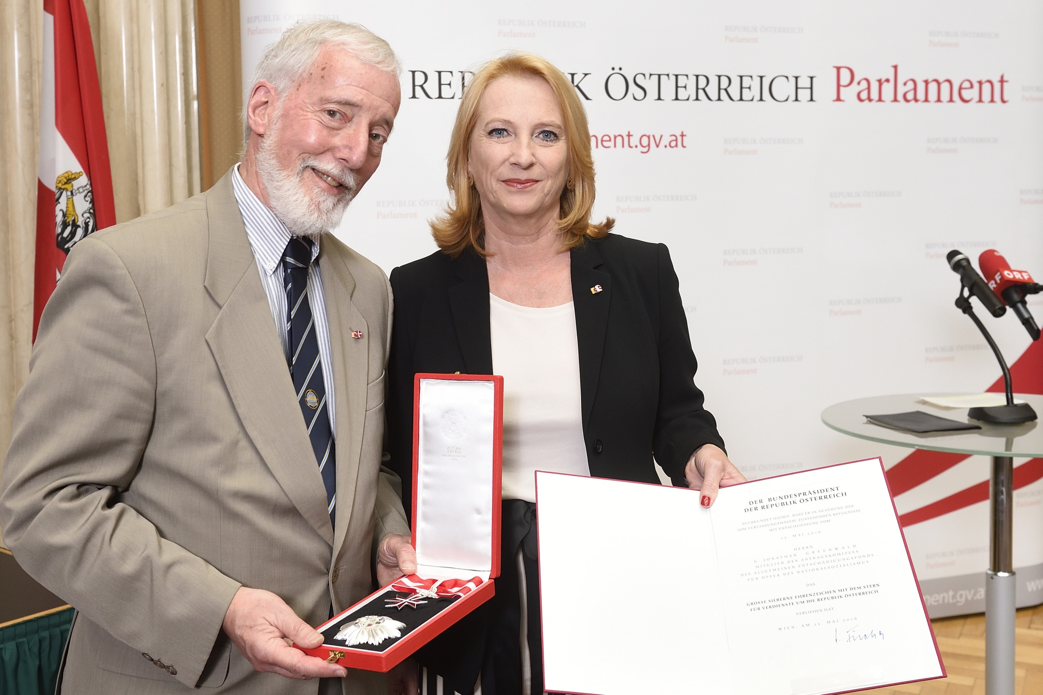 Reception in honor of the Claims Committee held at the Austrian Parliament on 4 April 2017