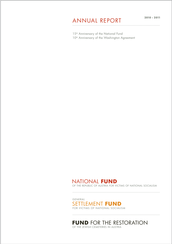 Reports General Settlement Fund For Victims Of National Socialism